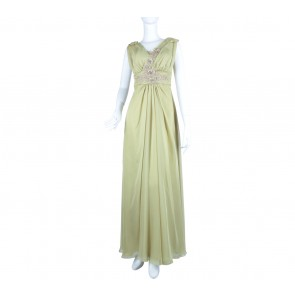 Peachespinkish Light Green Long Dress