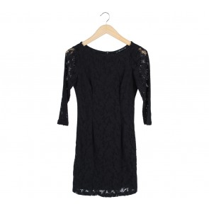 Zara Black Lace Mini Dress