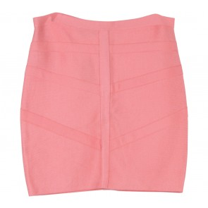 Bebe Pink Mirrored Trim Bandage Skirt Skirt