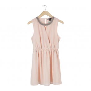 Forever 21 Peach Wrap Mini Dress