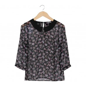 Marks & Spencer Black Owl Pattern Blouse