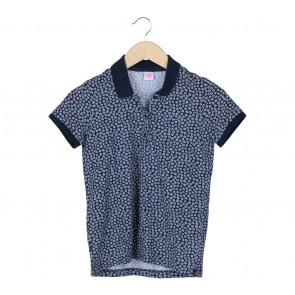 Lacoste Dark Blue And White Floral Blouse