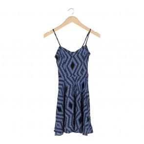 Cotton On Multi Colour Abstract Sleeveless Mini Dress
