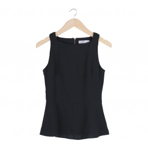 bYSI Black Peplum Sleeveless Blouse