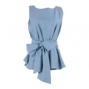 Shop At Velvet Blue Giant Bow Sleeveless Blouse