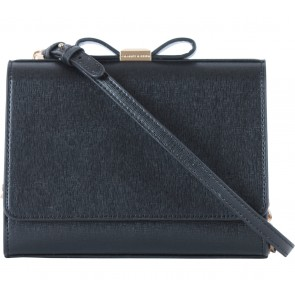 Charles and Keith Black Ribbon Clutch