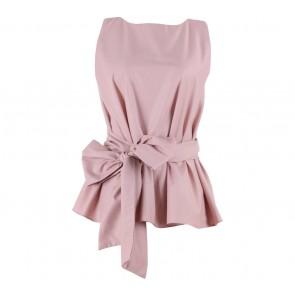 Shop At Velvet Pink Giant Bow Sleeveless Blouse