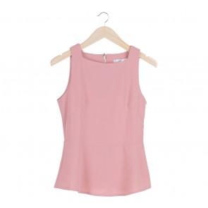 bYSI Pink Peplum Sleeveless Sleeveless