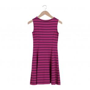UNIQLO Pink Stripes Sleeveless Mini Dress