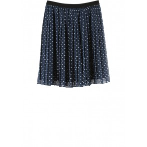 UNIQLO Dark Blue Polka Dot Polyester Skirt