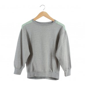 Olenka Green And Grey Sweater