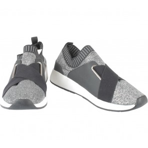 Stradivarius Black And Silver Slip On Sneakers