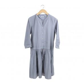 UNIQLO Grey Midi Dress