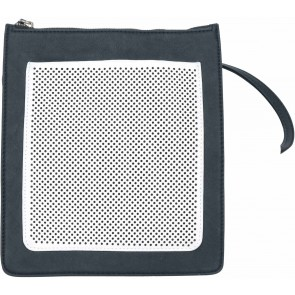 Country Road Black And Off White Perforated Sling Bag