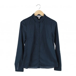 Esprit Dark Blue Polka Dot Shirt