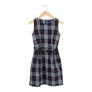 Etoile D´Elfas Multi Colour Plaid Mini Dress