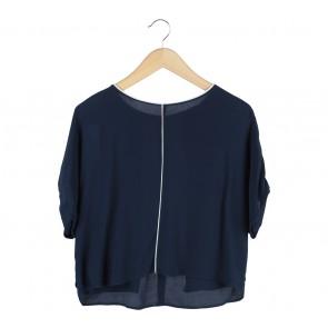 Zara Dark Blue Blouse