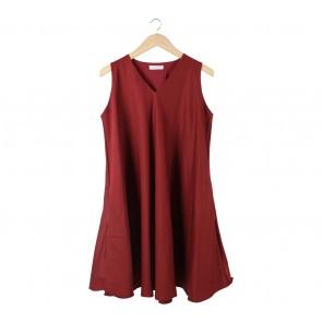 Shop At Velvet Maroon Sleeveless Mini Dress