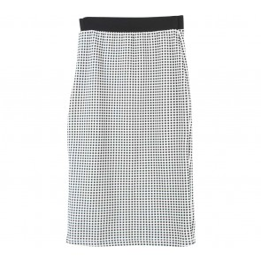 Topshop Black And Off White Plaid Skirt