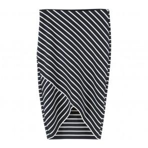 Zara Dark Blue And Off White Striped Skirt
