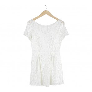 Cloth Inc Off White Lace Mini Dress