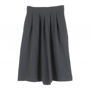 Stradivarius Dark Blue Striped Culottes Pants