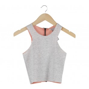 Zara Grey Cropped Sleeveless