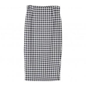 Asos Black And White Plaid Skirt