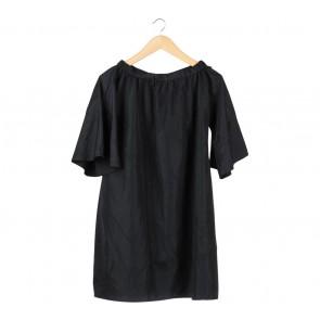 I.K.Y.K Black Bardot Mini Dress