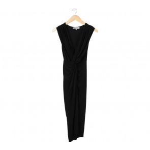 Paulina Katarina Black Midi Dress