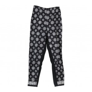 Black Patterned Pants