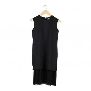 Day and Night Black Sleeveless Combi Midi Dress