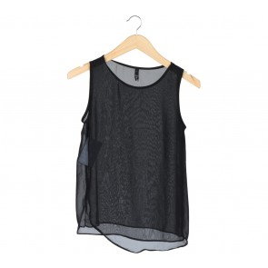 Status Quo Black Sleeveless Layered Blouse