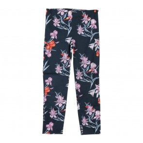 Mango Blue Floral Cropped Pants