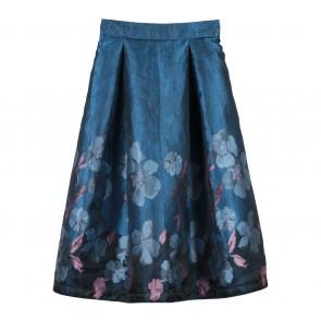 Bonschka Blue Floral Skirt