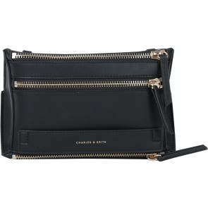 Charles and Keith Black Zipper Clutch