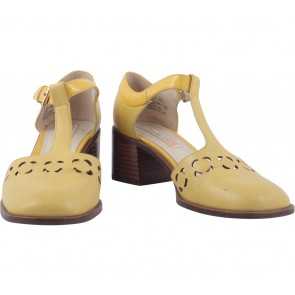 Clarks Yellow Heels