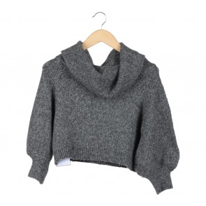 Pomelo. Dark Grey Cropped Sweater