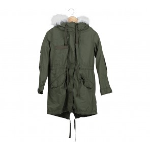 Topshop Green Coat