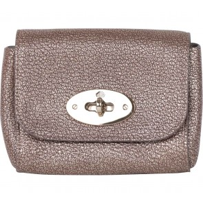 Mulberry Bronze Mini Lily Metallic Goat Clutch