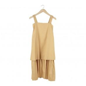 Oemah Etnik Yellow Sleeveless Midi Dress