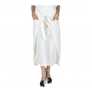 I.K.Y.K Off White Tied Skirt