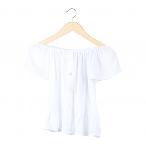 Vintage Treasure White Bardot Blouse