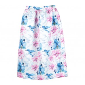 Marufe White Floral Skirt