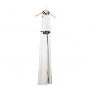 Sissae White Sleeveless Long Dress