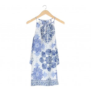 Amitie Appareal Blue And White Mini Dress