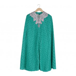 Febianihermaini Green Cape Caftan Midi Dress