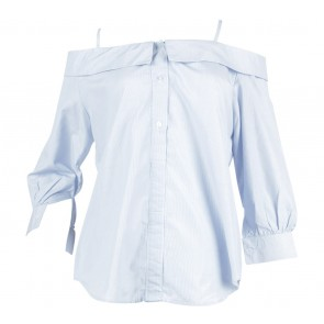 Label Eight Blue And White Shirt