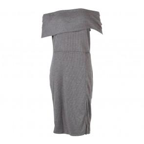 Cloth Inc Grey Selit Midi Dress