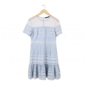 N.Y.L.A Blue Sheer Insert Mini Dress
